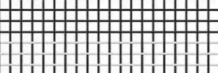Rete in fibra di vetro a fasce bianco/nero